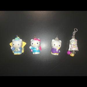 4 Sanrio Hello Kitty Pendants Vintage